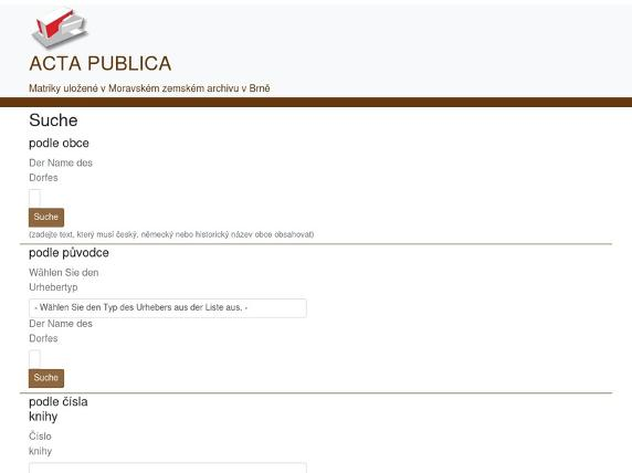 Screenshot von http://actapublica.eu/item/?lang=de